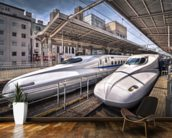 Japanese Bullet Trains wall mural kitchen preview