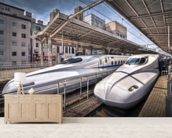 Japanese Bullet Trains wall mural living room preview