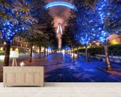Lights of the London Eye wall mural living room preview