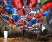 London Umbrella Art mural wallpaper kitchen preview