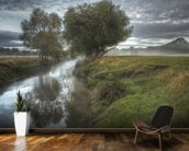 Misty morning in Richmond Park wall mural kitchen preview