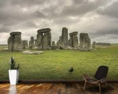 Storms over Stonehenge mural wallpaper kitchen preview