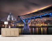 The bridge to St Paul's wall mural living room preview