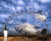Top of the London Eye wallpaper mural kitchen preview