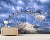 Top of the London Eye wallpaper mural living room preview