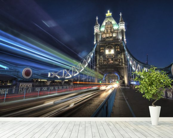 Tower Bridge Traffic wall mural room setting