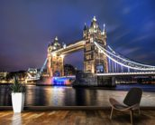 Tower Bridge at night wallpaper mural kitchen preview