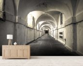Tunnels under Greenwich mural wallpaper living room preview