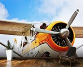 Propeller Plane wall mural kitchen preview