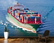 Container Ship mural wallpaper kitchen preview