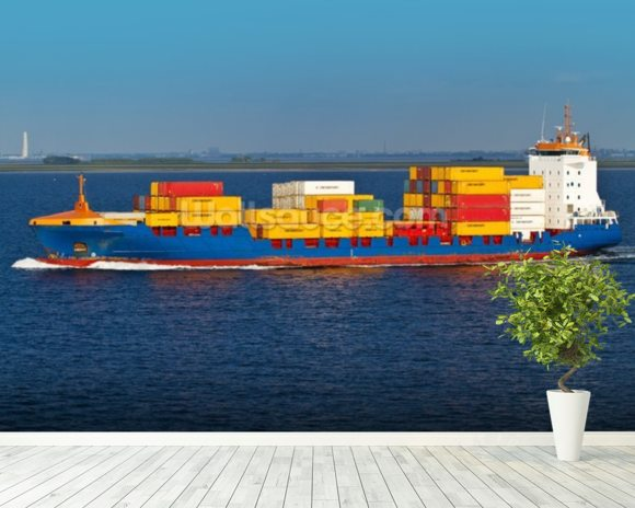Shipping Containers Onboard wall mural room setting
