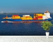 Shipping Containers Onboard wall mural in-room view