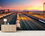 Freight Train wallpaper mural living room preview