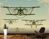 Retro Planes wall mural kitchen preview