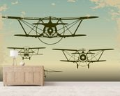 Retro Planes wall mural living room preview
