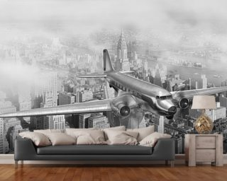 Wall Paper Murals airplane wallpaper & aircraft wall murals | wallsauce usa