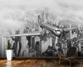 DC-3 Over NYC mural wallpaper kitchen preview