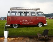 VW Camper Red wall mural kitchen preview