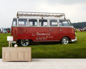 VW Camper Red wall mural living room preview