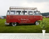 VW Camper Red wall mural in-room view
