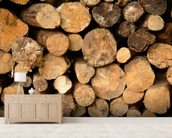 Log Pile Stack wall mural living room preview