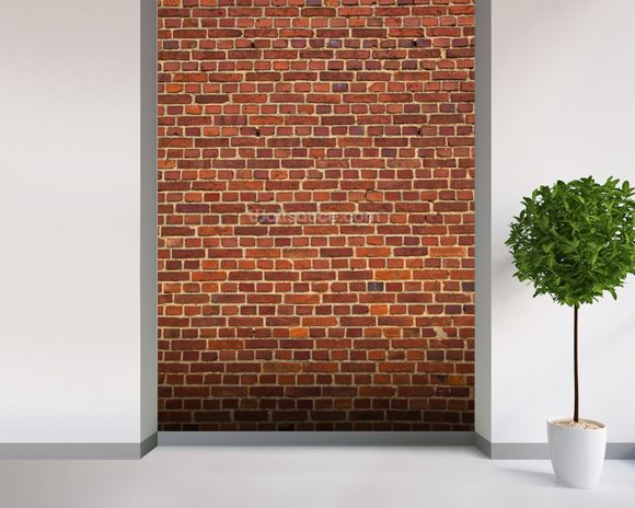 Brick Wall Distressed mural wallpaper room setting