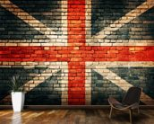 Union Jack on Old Brick wall mural kitchen preview