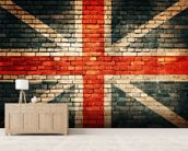 Union Jack on Old Brick wall mural living room preview