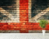 Union Jack on Old Brick wall mural in-room view