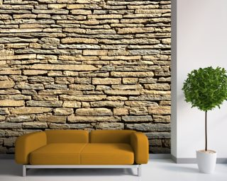 Stone Wall - Sandstone Wallpaper Mural Wall Murals Wallpaper