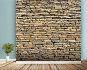 Stone Wall - Sandstone wallpaper mural in-room view