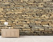 Stone Wall - Sandstone wallpaper mural living room preview