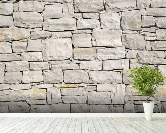 stone wall white wallpaper wall mural wallsauce usa made to measure wall murals