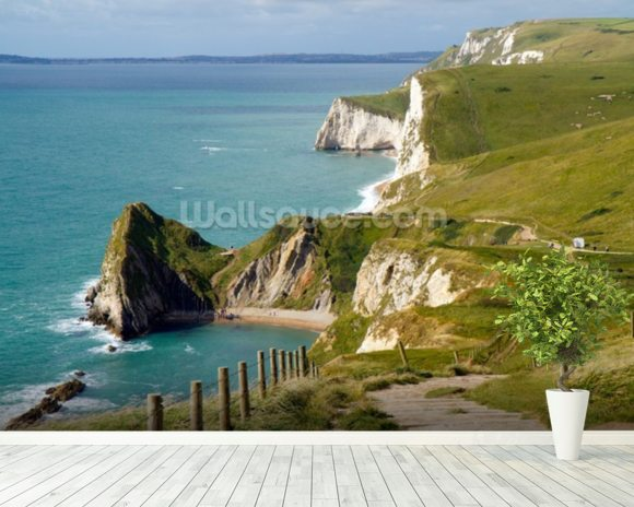 Dorset Coast mural wallpaper room setting