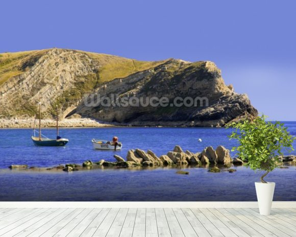 Lulworth cove dorset coast england wall mural room setting
