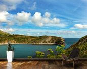 Lulworth Cove in Dorset England mural wallpaper kitchen preview