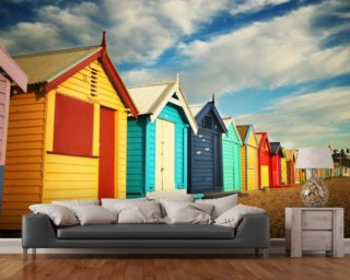 Bathing Boxes Wallpaper Wall Murals