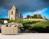 Castle Ruins wallpaper mural living room preview