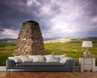 Cairn and Clouds mural wallpaper