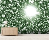 Chasm Green (2013) wallpaper mural living room preview