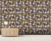 Mass Production (2013) mural wallpaper living room preview