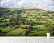 Castleton Landscape wall mural in-room view