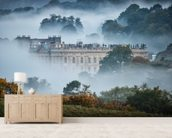Chatsworth In The Mist wallpaper mural living room preview