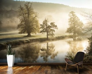 Chatsworth Misty River Mural Wallpaper Wall Murals Wallpaper