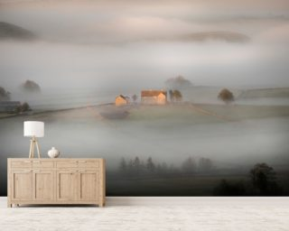 House In The Mist Wallpaper Wall Murals Wallpaper