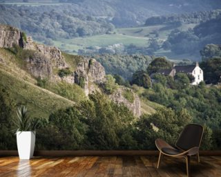 Monsal Head Rocks wallpaper mural