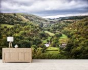 Monsal Head mural wallpaper living room preview