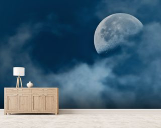 Wispy Moon wallpaper mural
