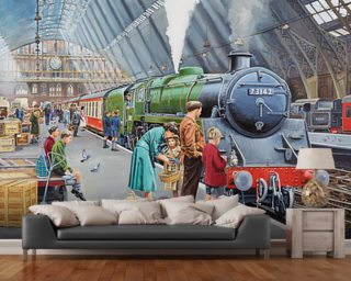St Pancras in the 50's wall mural