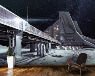 PO Lunar base 2 Wall Murals Wallpaper